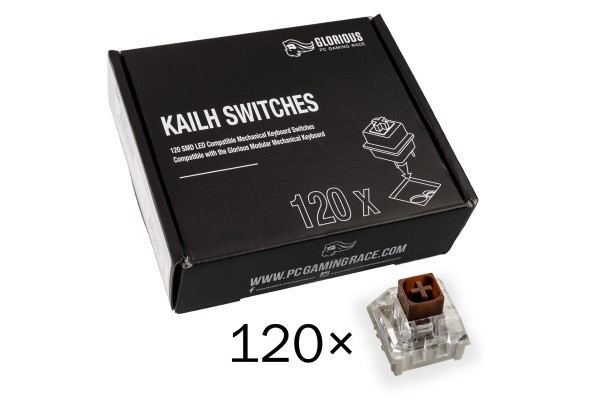 Glorious PC Gaming Race Kailh Box Brown Switches (120 Stück)