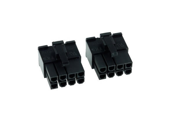 Phobya VGA Power Connector 8Pin Stecker inkl. 8 Pins - 2 Stück Black