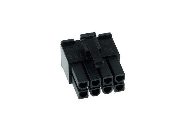 Phobya ATX Power Connector 8Pin Stecker inkl. 8 Pins - Black