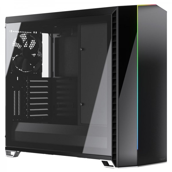 Fractal Design Vector RS Blackout TG - Midi/Minitower - Schwarz - mit Window