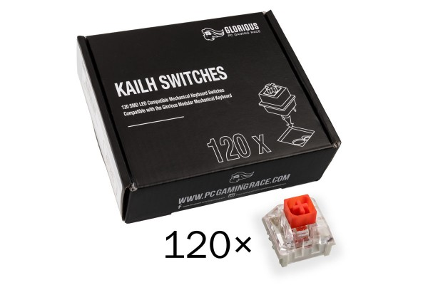Glorious PC Gaming Race Kailh Box Red Switches (120 Stück)
