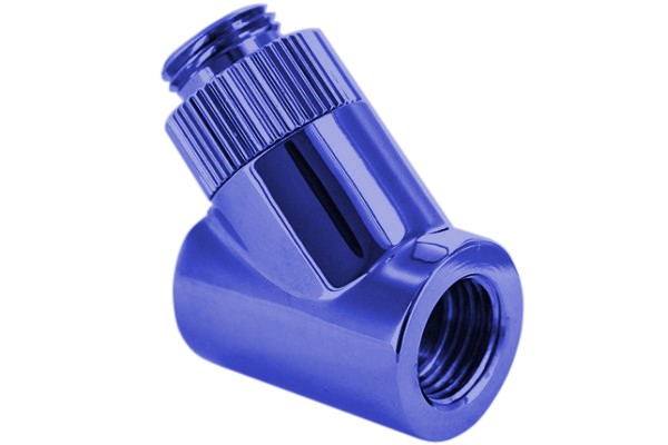 "Monsoon 16/10mm (OD 5/8"") Light Port Rotary 45° - Blue"