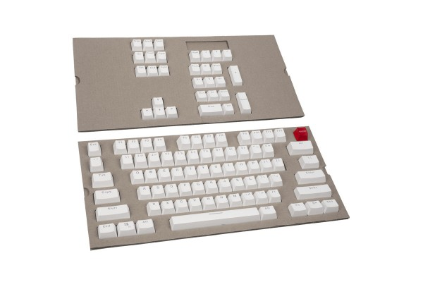 Glorious PC Gaming Race ABS Doubleshot Keycaps - 104 St. ANSI US-Layout - White