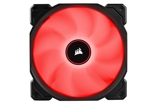 Corsair AF Series AF120 Red LED 120mm Gehäuselüfter - 3er Pack (120x120x25mm)