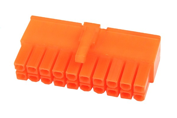 mod/smart ATX Power Connector 20Pin Stecker - UV Brite Orange