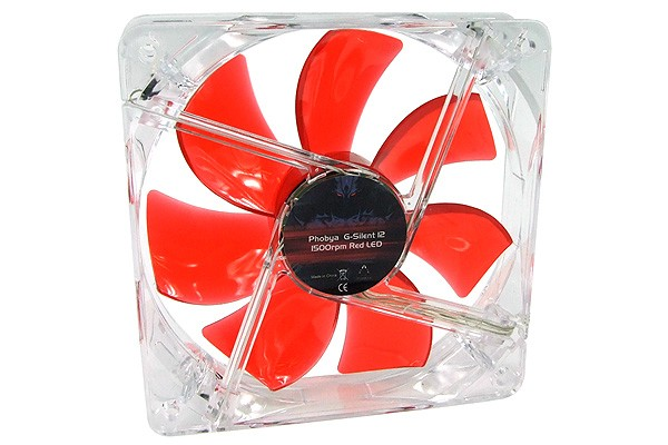 Phobya G-Silent 12 1500rpm Red LED ( 120x120x25mm )