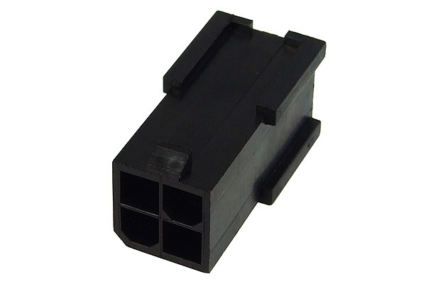 mod/smart ATX Power Connector 4Pin Buchse - Schwarz